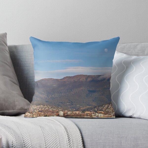 Hobart and Mount Wellington, Tasmania Throw Pillow