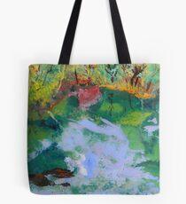 Ichetucknee Springs Abstract on Glass Tote Bag
