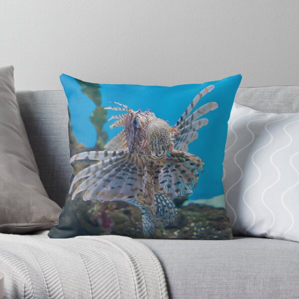 Fish in a Tank Throw Pillow
