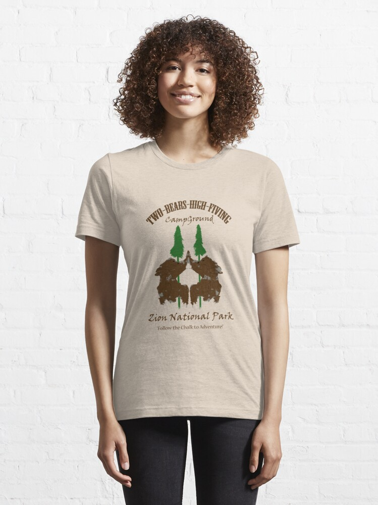 Alternate view of Two-Bears High Fiving Campground Essential T-Shirt
