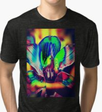4391 Psychedelic Orchid Tri-blend T-Shirt