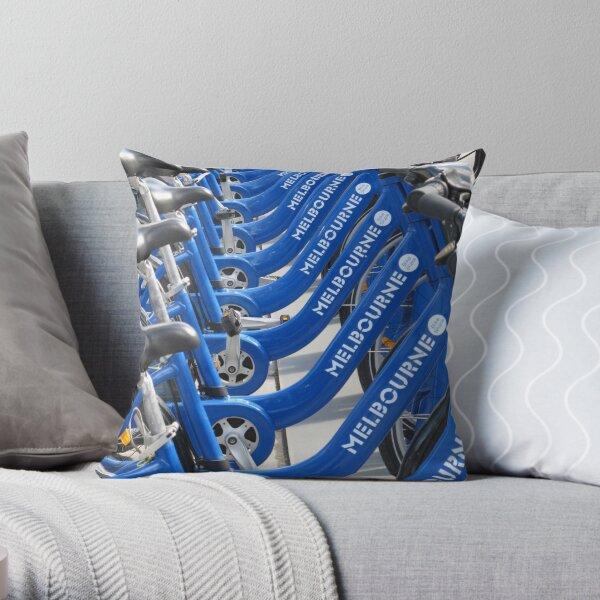 Melbourne Cycles Throw Pillow