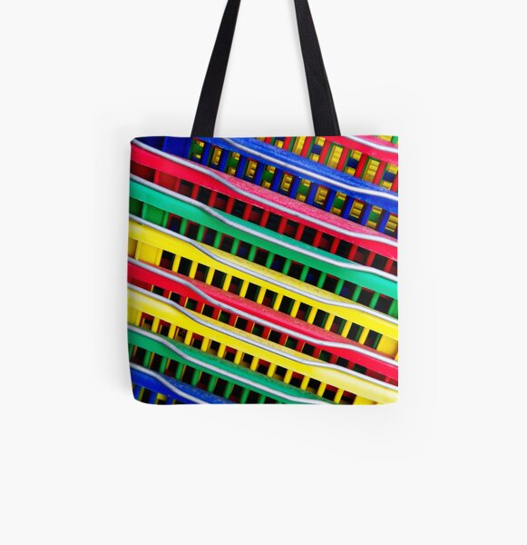 Primary Colors All Over Print Tote Bag