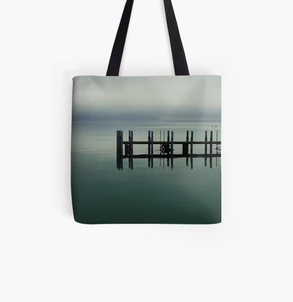 Misty Morning, Monkey Mia, Western Australia All Over Print Tote Bag
