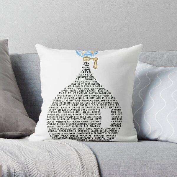 Oil Drop Throw Pillow