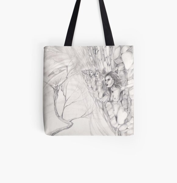 Sirens All Over Print Tote Bag