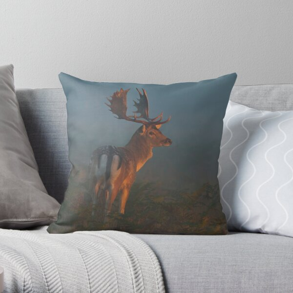 Fallow Buck Throw Pillow