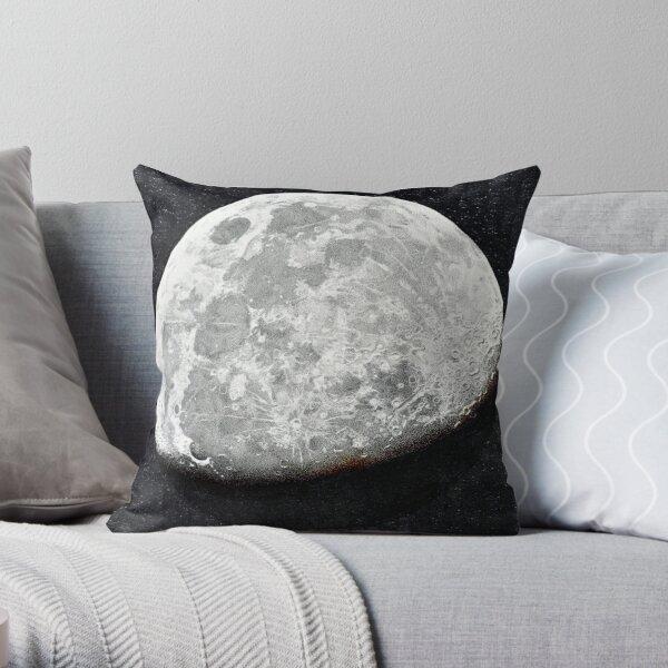 Gibbous Moon Throw Pillow