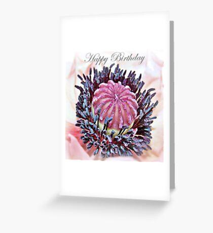 Poppy Pollen Pockets Birthday Card Greeting Card
