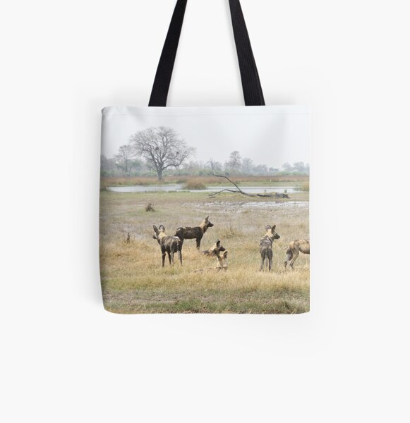 Land of the wild dogs All Over Print Tote Bag