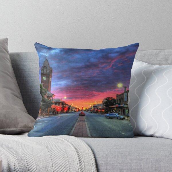 Main Street Sunrise Throw Pillow