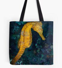 Sea horse (Hippocampus) underwater view Tote Bag