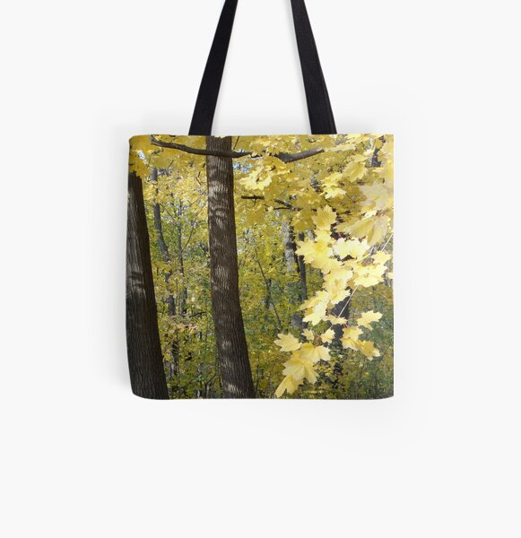 Maple Gold All Over Print Tote Bag