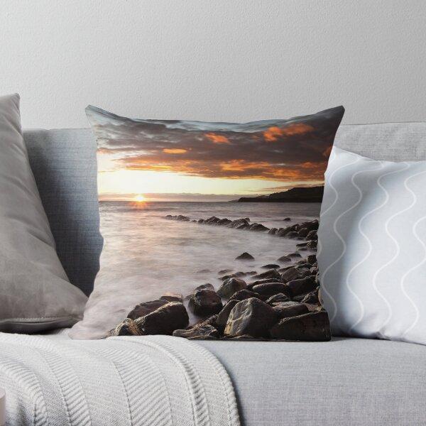 The Setting Sun - Kimmeridge Throw Pillow