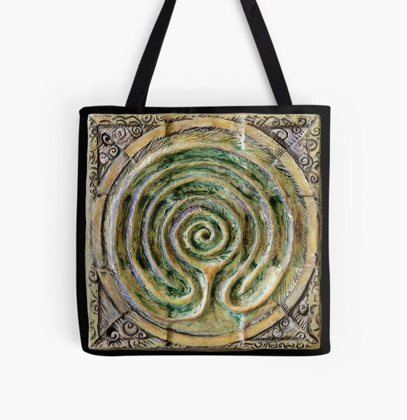 Spiral nine: toward center All Over Print Tote Bag