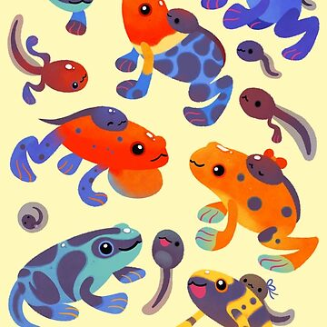 Poison dart frogs - yellow by pikaole