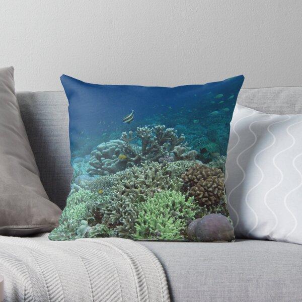 Coral at Wayag II Throw Pillow