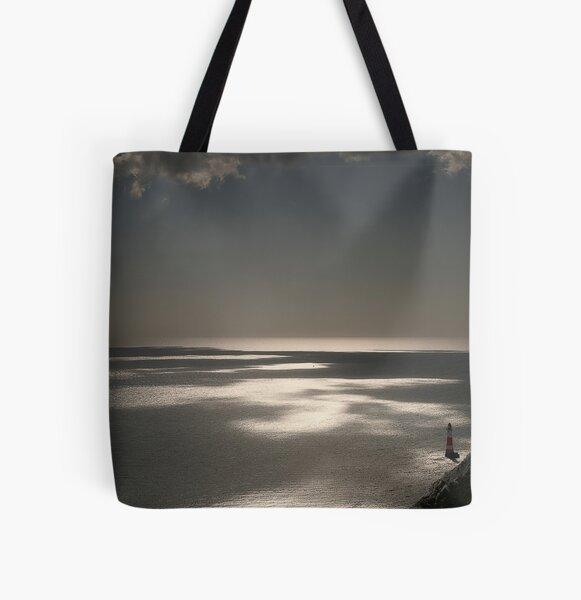 Beachy Head lighthouse All Over Print Tote Bag