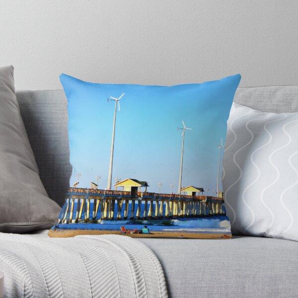 Jennette's Pier Throw Pillow