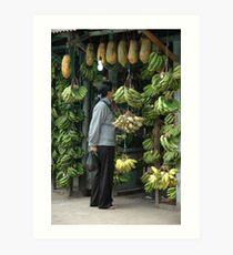 buying banana Art Print