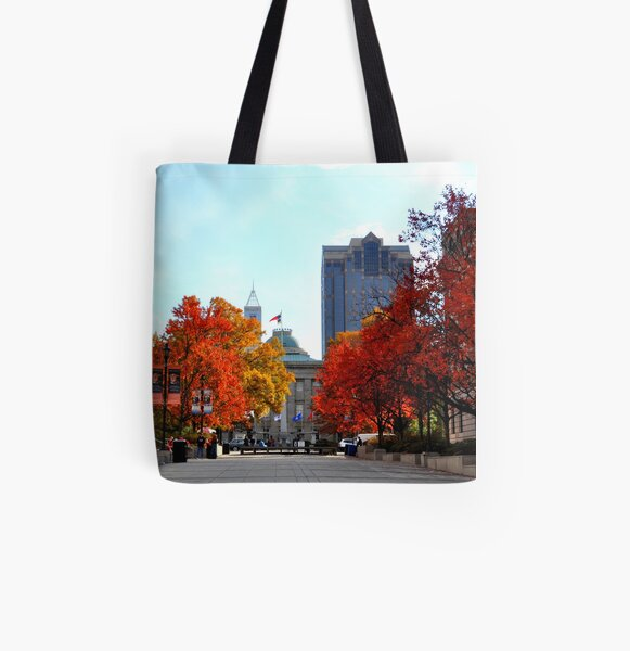 Autumn in Raleigh All Over Print Tote Bag