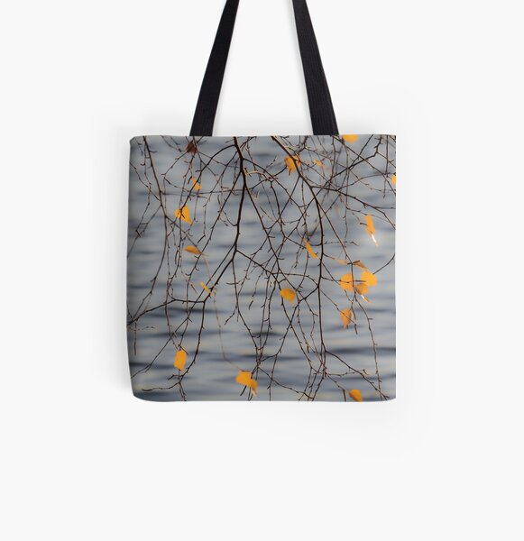 Golden Leaves All Over Print Tote Bag