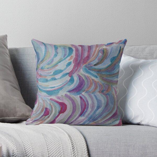 Colored Commas Throw Pillow