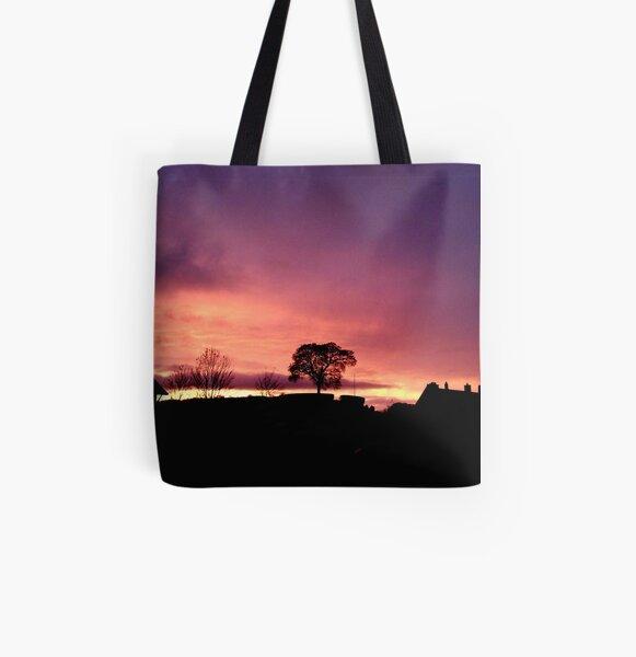 Mr.Weng Household Forest Sunset Lady Handbag Tote Bag Zipper Shoulder Bag