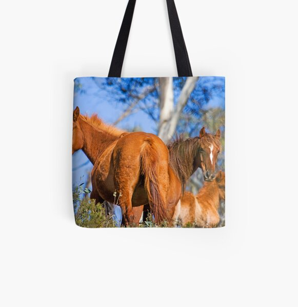 Brumbies in Kosciuszko National Park All Over Print Tote Bag