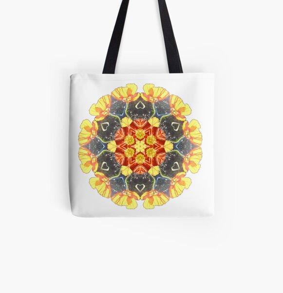 Ranunculus Love Mandala All Over Print Tote Bag