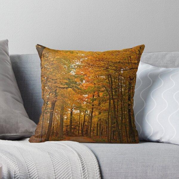 Autumn in Door County Throw Pillow
