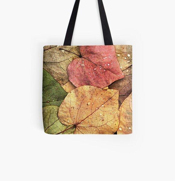 Redbud Leaves All Over Print Tote Bag