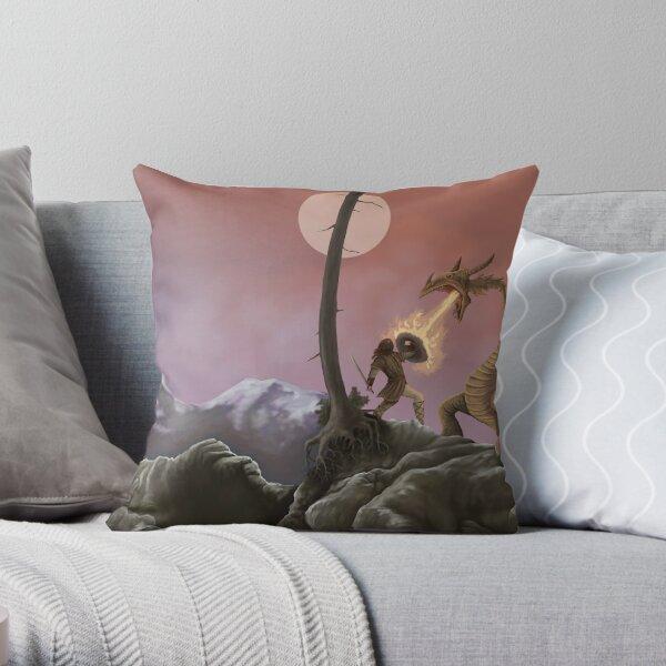 Sigurd and Fafnir Throw Pillow