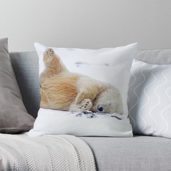Rolling in the Snow Throw Pillow