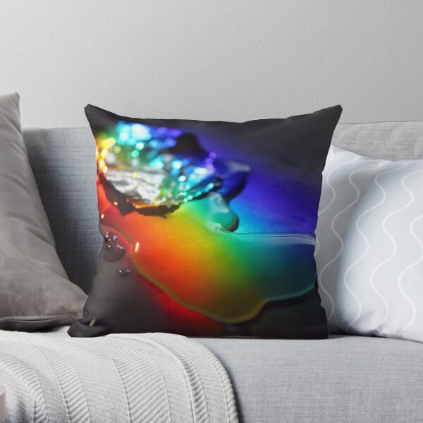Rainbolic - Experimental Prism Photograph #15 Throw Pillow