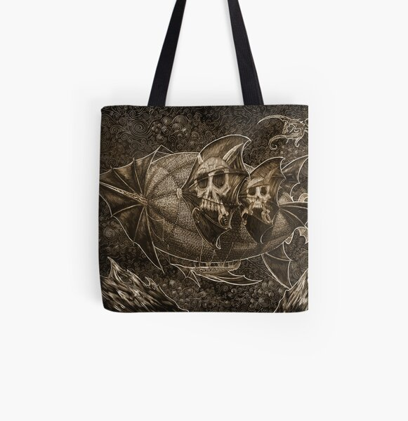 Mountain Temple All Over Print Tote Bag