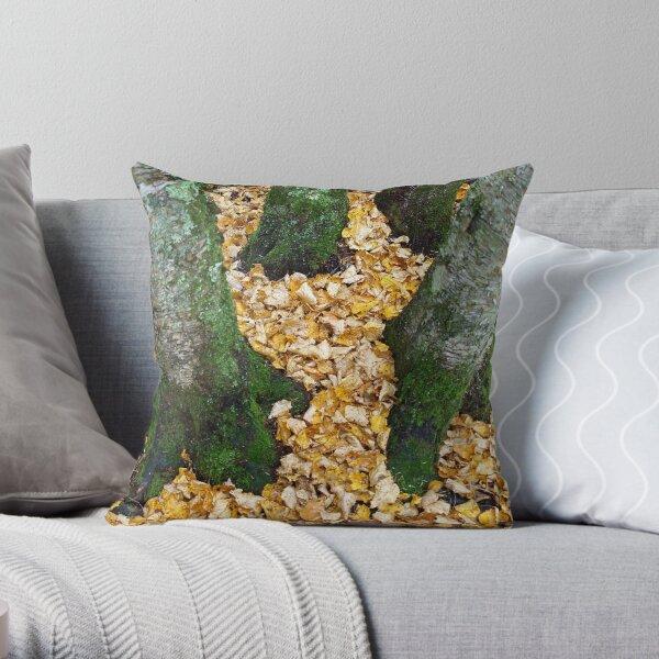 Golden Carpet Throw Pillow