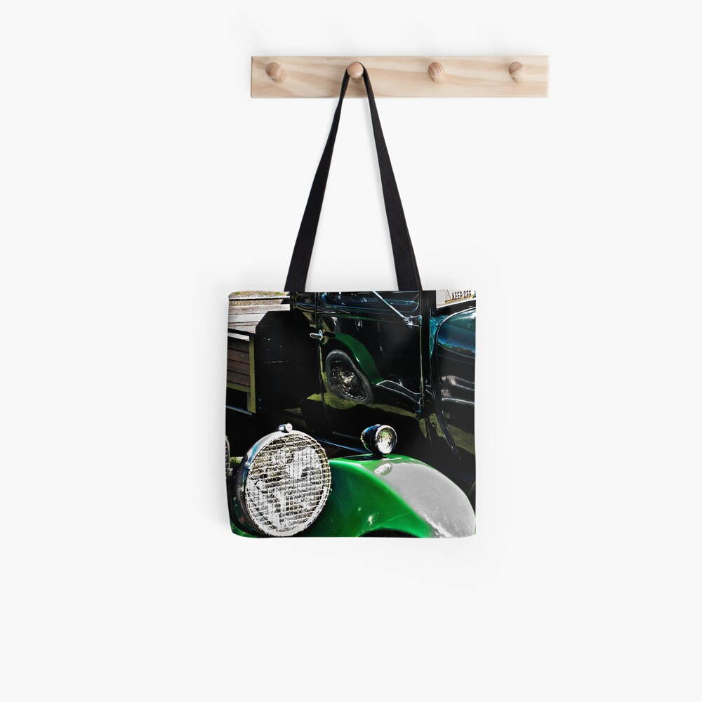 Vintage Green Reflections Tote Bag