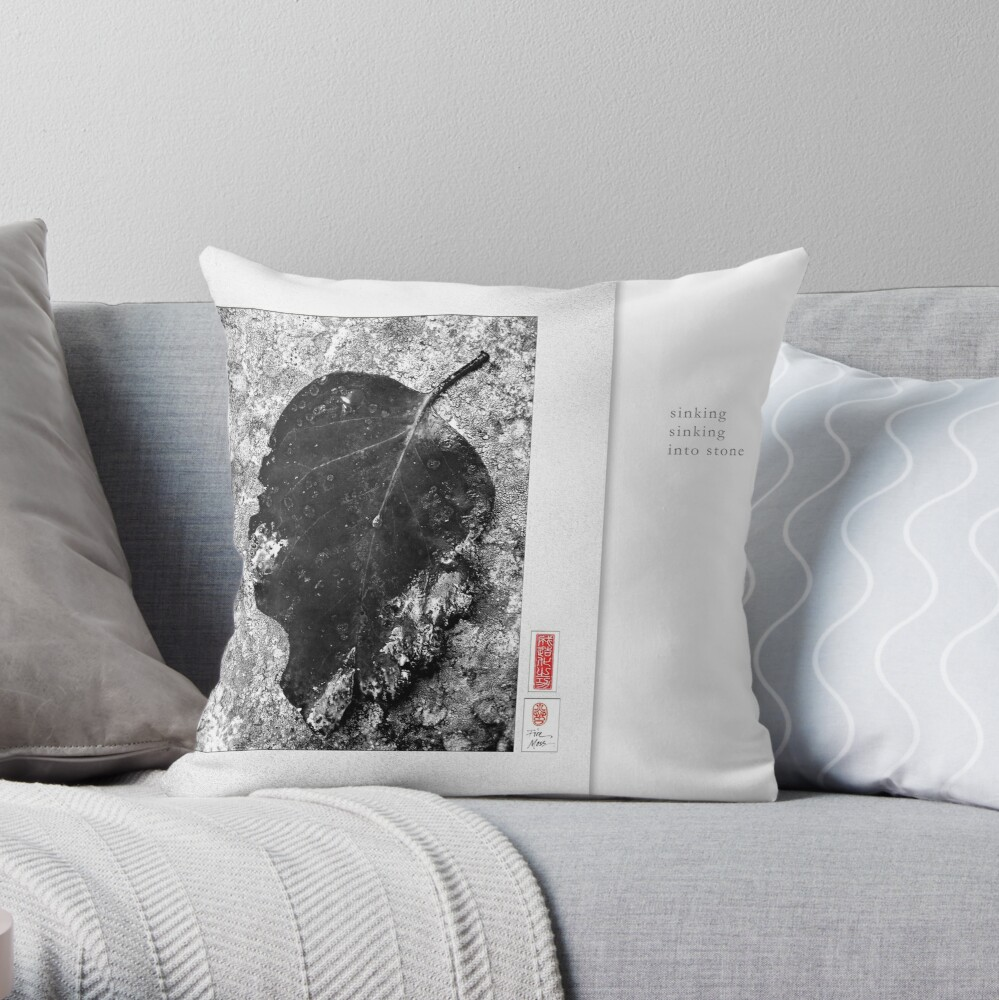 Mindfulness In Monochrome - Sinking Throw Pillow