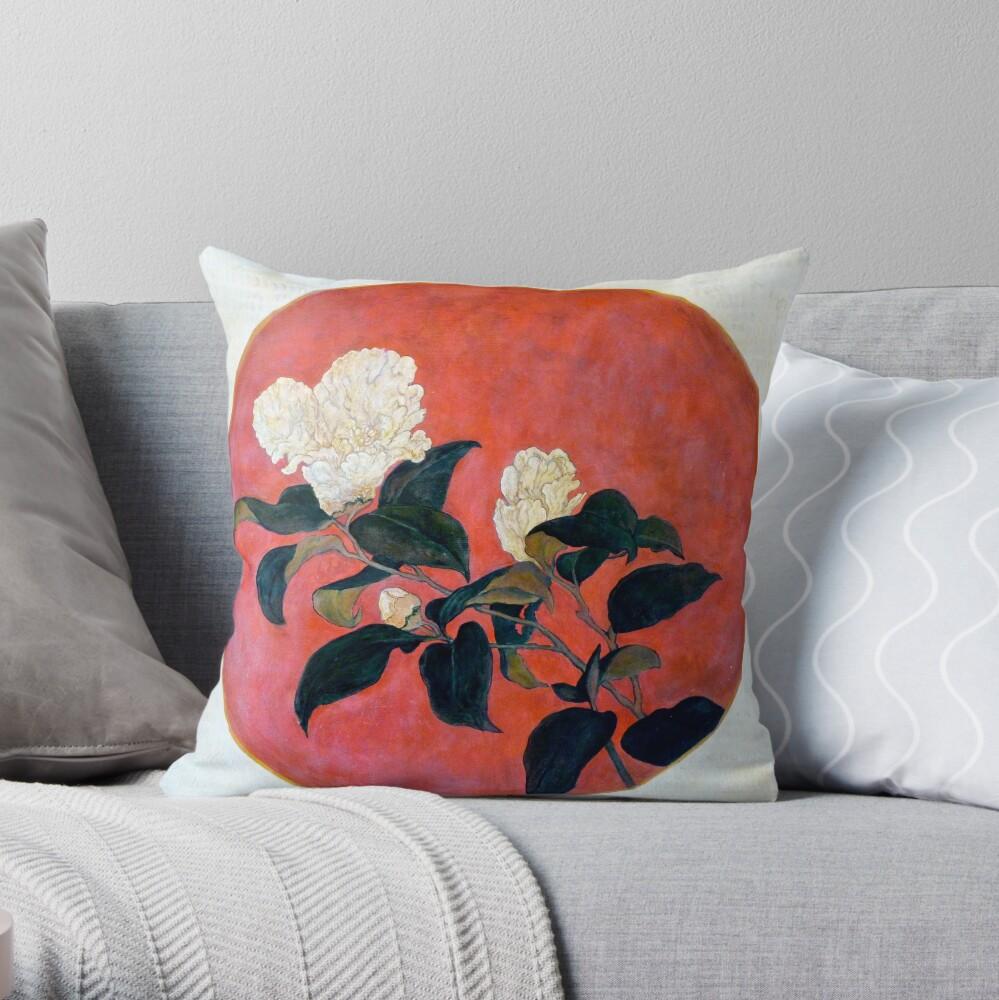 Asian Floral Throw Pillow