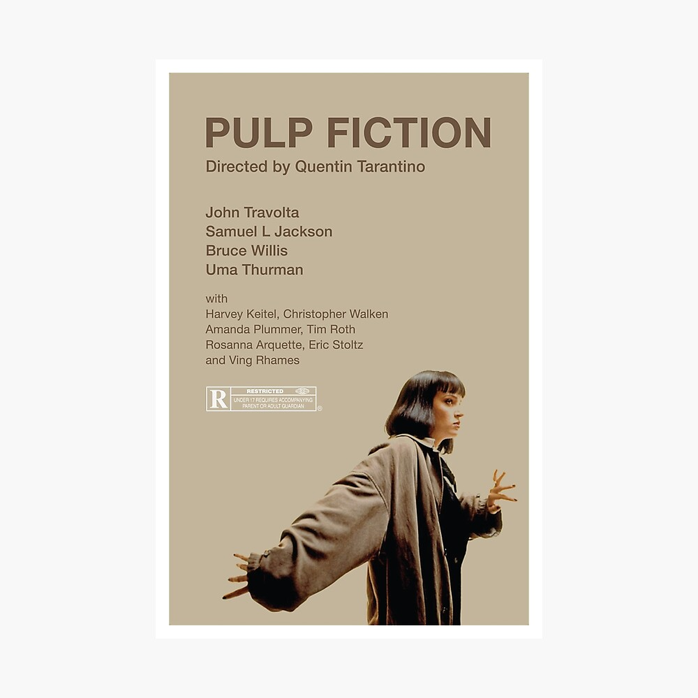 Pulp Fiction: Mia Wallace Fotodruck