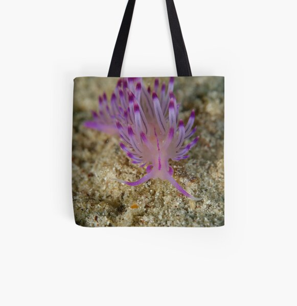Nudibranch - Flabellina rubrolineata All Over Print Tote Bag