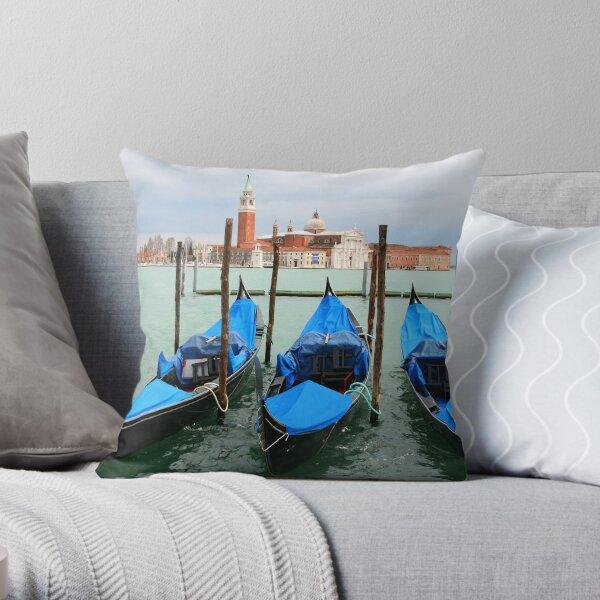 Three gondolas Throw Pillow