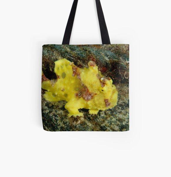 Warty frogfish - Antennarius maculatus All Over Print Tote Bag