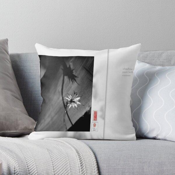 Mindfulness In Monochrome - Shadows Throw Pillow