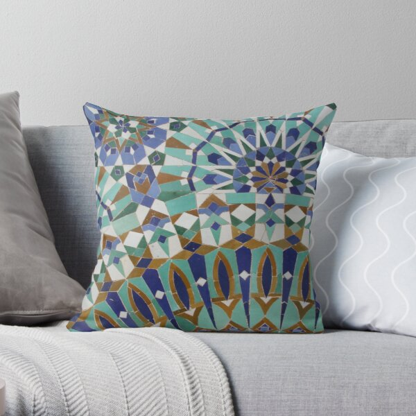 Moroccan Tiles Throw Pillow