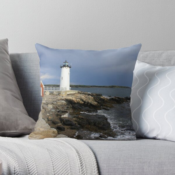 Portsmouth Harbor Lighthouse Throw Pillow