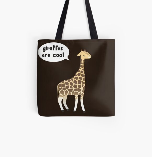 Giraffes are cool All Over Print Tote Bag