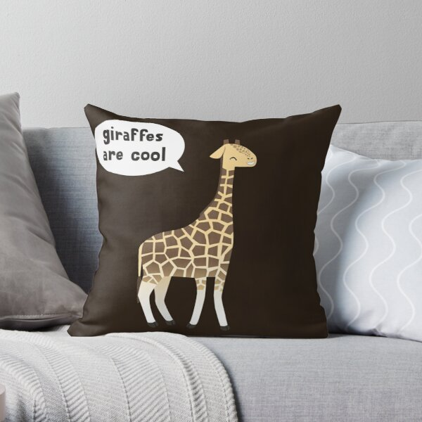 Giraffes are cool Throw Pillow