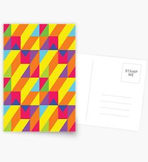 Yellow stairs optical illusion Postcards